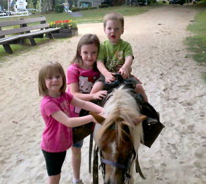Family enjoying the pony.